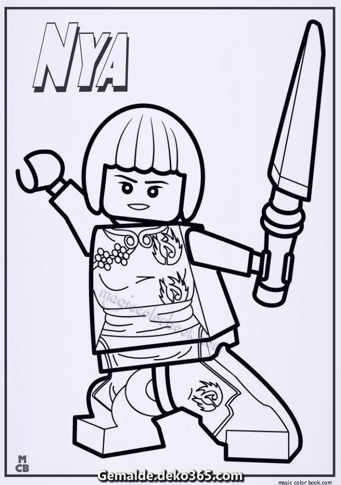 ausmalbilder ninjago lego nya — bilder