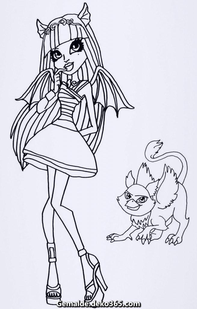 Ausmalbilder Monster High Rochelle Ausmalbilder Monster ...