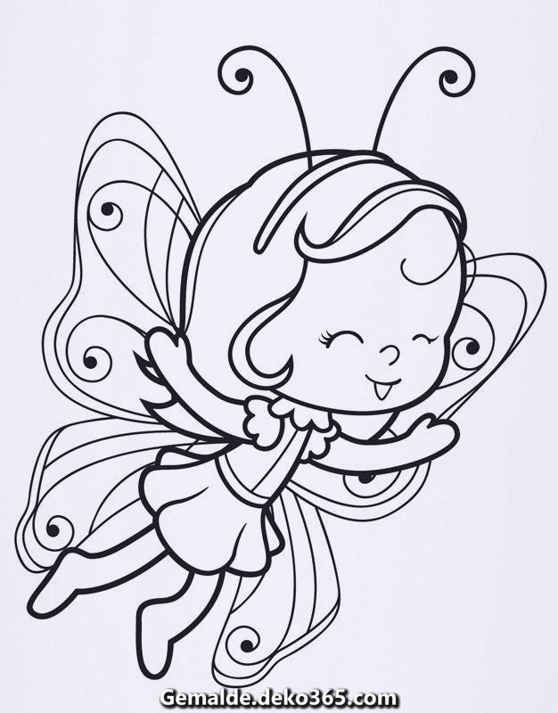 ausmalbild märchen malvorlage kostenlose fliegende fee