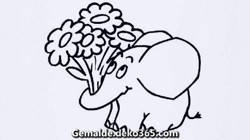 elefant mit blumen 736 malvorlage nicht mehr da