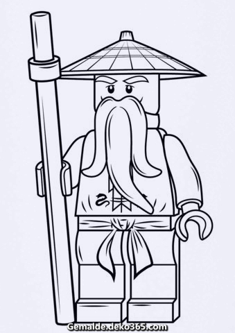 färbung: lego ninjago sensei wu. kategorien: lego ninjago. kostenlose färbung  — bilder