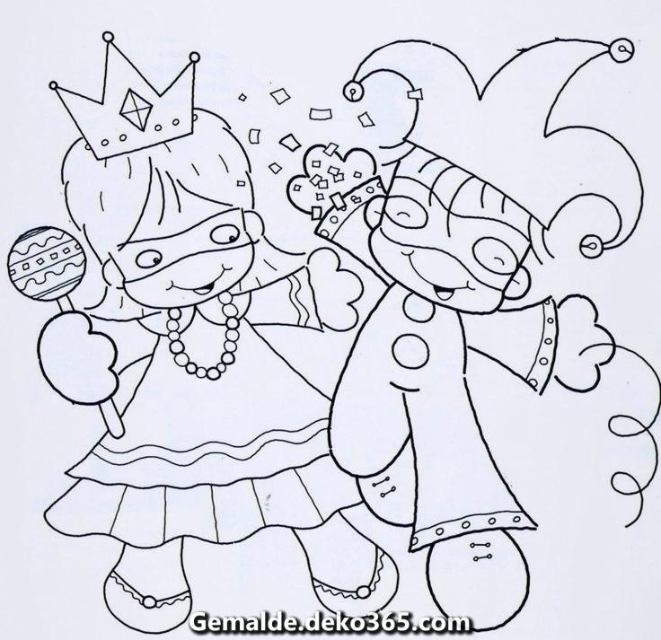 Faschingsbilder Ausdrucken Ausmalen Kinder Narr Kinder Print Karneval Bilder