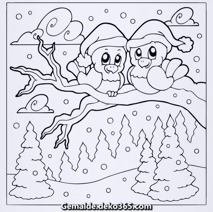 kostenlose malvorlage winter malvorlage kostenlose zwei