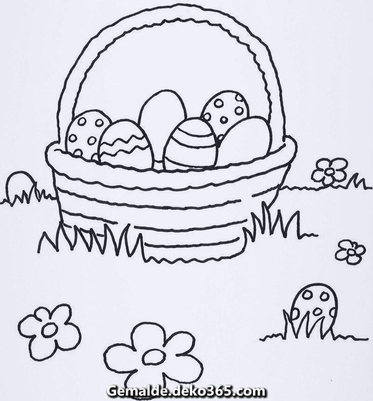 Malbild Ausmalbilder Ostereier Kostenlos