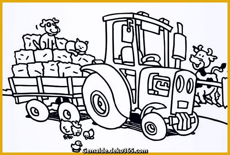 malvorlagen kinder druckbare traktor — bilder